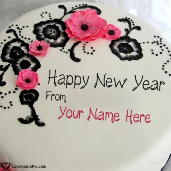 Write name on Best New Year Wishes Cake pictures