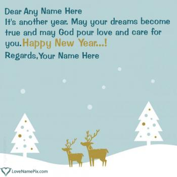 Write name on Best New Year Wishes Messages images