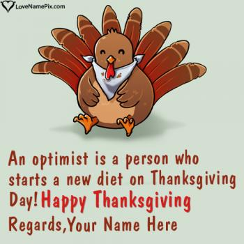 Best Thanksgiving Wishes Quotes With Name