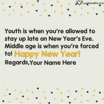 Best Wish Happy New Year Quotes With Name