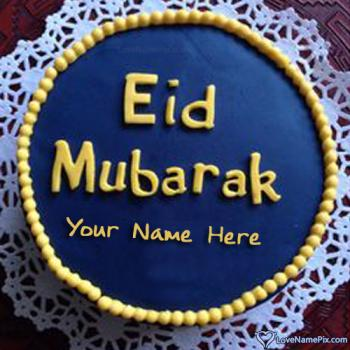 Best Wishes Eid Cake With Name