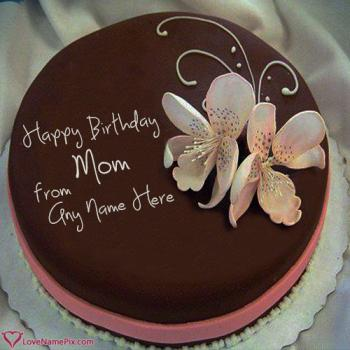 Write name on Birthday Cake Maker For Mother Online photo