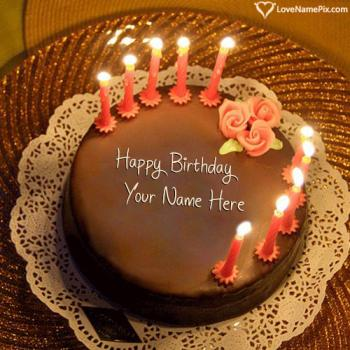 Birthday Cake With Candles Free Download With Name