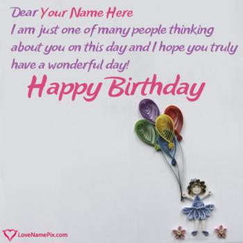 Birthday Card Messages For Girl With Name Birthday Cards