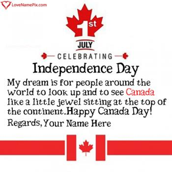 Canada Day Wishes Messages With Name