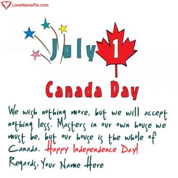 Canada Independence Day Celebration With Name