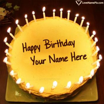 Candles Birthday Cake Generator For Boys With Name