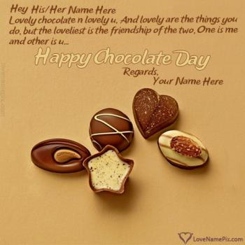 Chocolate Day Wishes For Lovers With Name