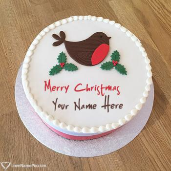 Write name on Christmas Wishes Cake Design Ideas pictures