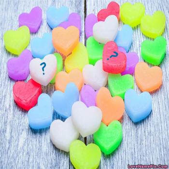 Colorful Hearts Letter Name Picture