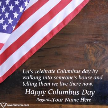 Columbus Day Celebrations In USA With Name