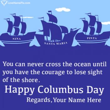 Columbus Sailed Ocean Blue Quotes With Name