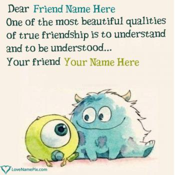 Write friend name on Cute Best Friend Quotes images
