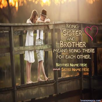 Write name on Cute Brother Sister love images