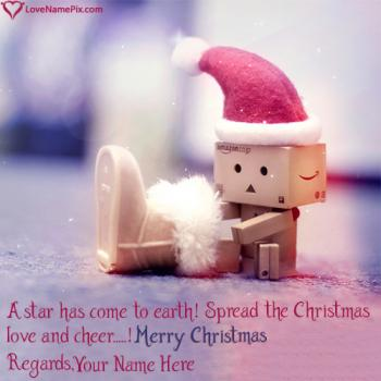 Write name on Cute Christmas Wishes Quotes images