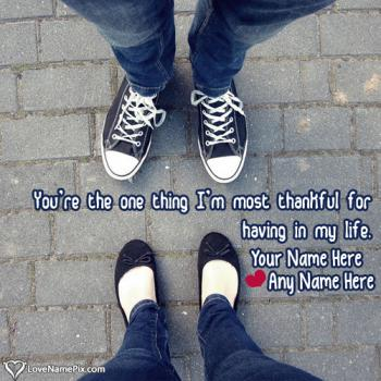 Write name on Cute Couple Name Maker love images