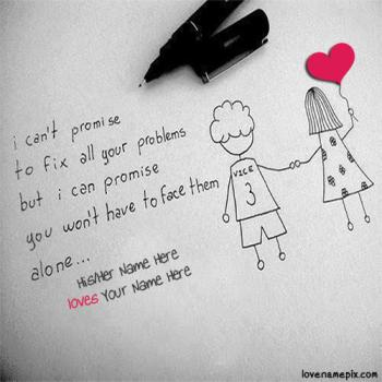 Write name on Cute Couple Quotes For Teenagers love images