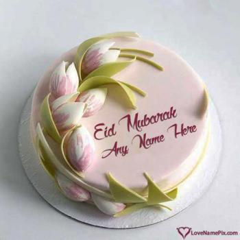 Cute Eid Mubarak Cake Wishes With Name