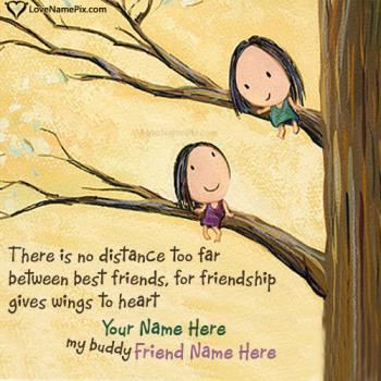 Write friend name on Cute Friendship Quotes Images images