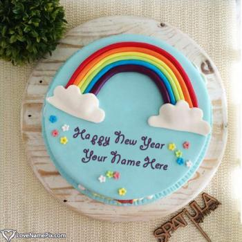 Cute Happy New Year Cake Images With Name