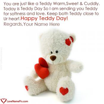 Cute Happy Teddy Day Images Name Picture