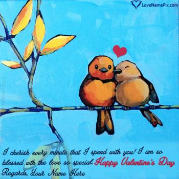Write name on Cute Happy Valentines Day Quotes love images