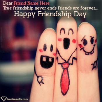 Write name on Cute Images Of Friendship Day images