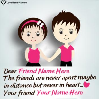 Write friend name on Cute Images Of Friendship images