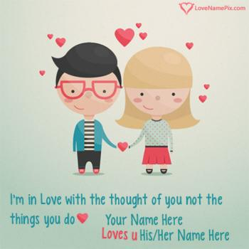 Write name on Cute Images Of Love Couples love images