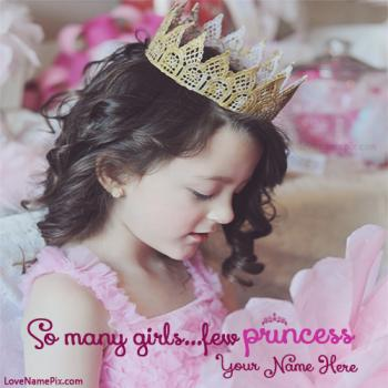 Write name on Cute Little Princess Girl Profile Picture