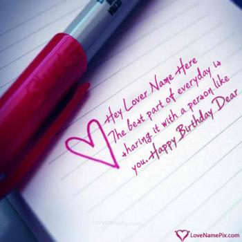 Cute Lovers Birthday Wishes With Name
