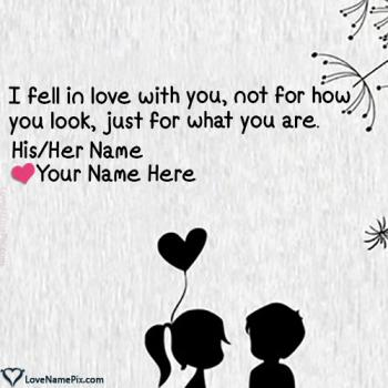Write name on Cute Lovers Name Combiner love images