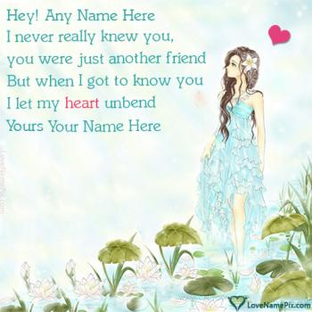 Write name on Cute Poem About Love For Him love images