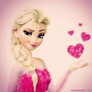 Write name on Cute Princess Anna Letters love images