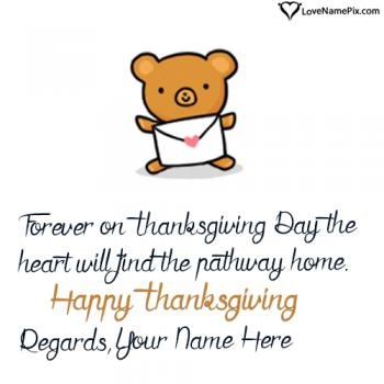 Cute Thanksgiving Wishes Wording With Name