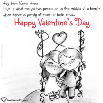 Write name on Cute Valentines Messages For Her love images