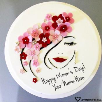 Cute Womens Day Cake Images Name Picture