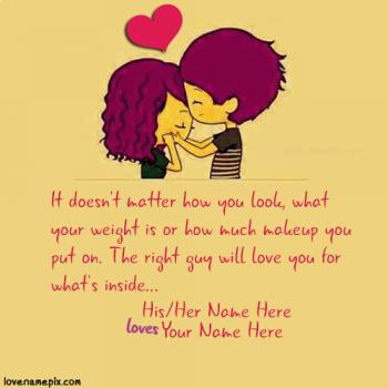 Write name on Cutest Love Quotes For Her love images