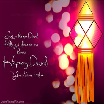 Write name on Diwali Wishes Facebook images