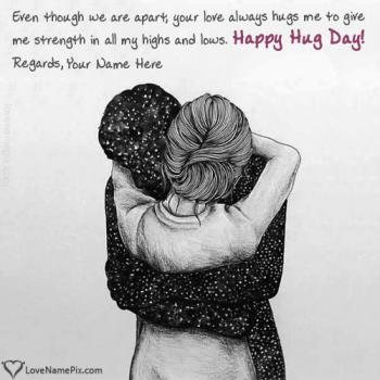 Editor For Happy Hug Day Images Images With Name