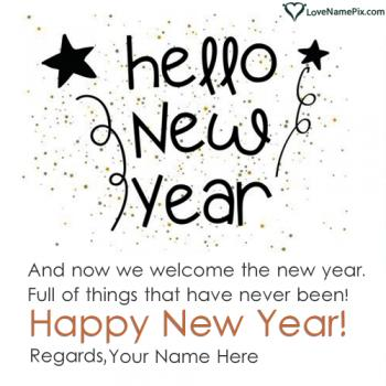 Editor For New Year Wishes Online With Name