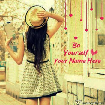 Write name on FB Profile Pic For Stylish Girl Picture