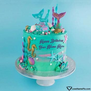 Free Ocean Birthday Cake Edit With Name