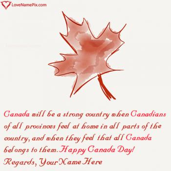 Free Online Greeting Cards Canada Day With Name