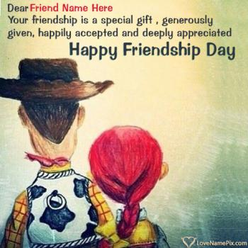 Write name on Friendship Day Greetings Messages images
