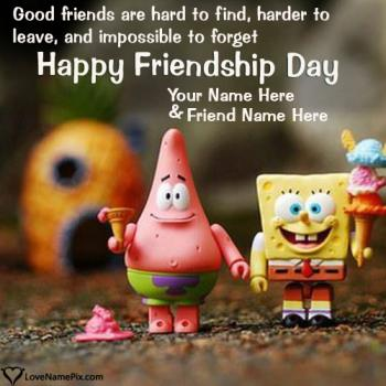 Write name on Friendship Day Wishes Quotes images