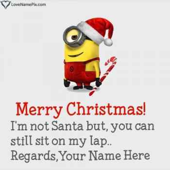 Write name on Funny Christmas Wishes Quotes images