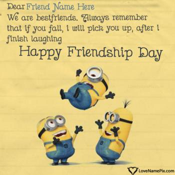 Funny Friendship Day Quotes With Name
