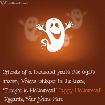Write name on Funny Halloween Images Quotes images