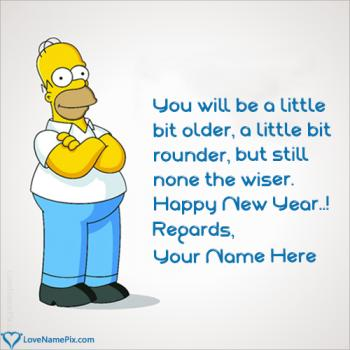 Funny Happy New Year Message With Name